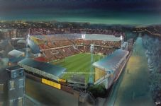 Bradford City - Valley Parade Night Scene - 20'' x 30'' approx poster print